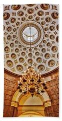Hand Towel featuring the photograph Us Capitol Rotunda Washington Dc by Susan Candelario