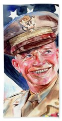 Us General Dwight D. Eisenhower Bath Towel