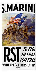 Us Marines - First To Fight In France Hand Towel