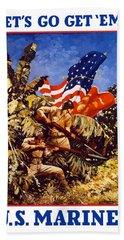 Us Marines - Ww2  Bath Towel