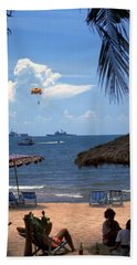 Us Navy Off Pattaya Hand Towel