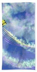 Us Navy Seals Colorful Parachute Jump Hand Towel