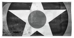 Us Roundel, In Black And White - 2017 Christopher Buff, Www.aviationbuff.com Bath Towel