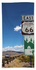Us Route 66 Sign Arizona Bath Towel