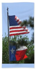 Usa Blesses Texas Hand Towel