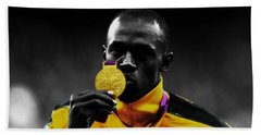Usain Bolt Gold Medal Hand Towel