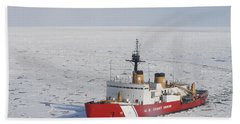 Uscgc Polar Sea Conducts A Research Hand Towel
