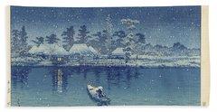 Ushibori, Kawase Hasui, 1930 Bath Towel