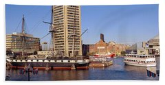 Uss Constellation, Inner Harbor Hand Towel
