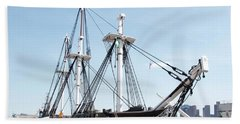 Uss Constitution Dry Dock Bath Towel