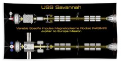 Hand Towel featuring the digital art Uss Savannah Profile by David Robinson