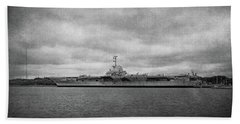 Hand Towel featuring the photograph Uss Yorktown by Sandy Keeton
