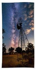 Utah Windmill And Milky Way Bath Towel