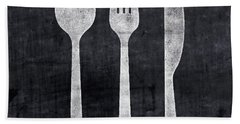 Utensils- Art By Linda Woods Hand Towel