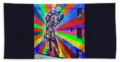 V - J Day Mural By Eduardo Kobra # 4 Hand Towel