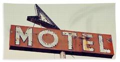 Vacancy Vintage Motel Sign Bath Towel