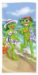 Vacation Beach Frog Girls Bath Towel