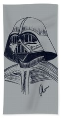 Vader Sketch Hand Towel by Chris Thomas