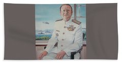 Vadm Robert Claude Simpson-anderson Hand Towel by Tim Johnson