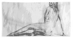 Valentina... Hand Towel by Edgar Torres