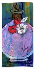 Bath Towel featuring the painting Valentina by P J Lewis