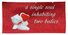 Hand Towel featuring the photograph Valentine By Aristotle by Linda Phelps
