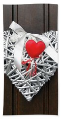 Hand Towel featuring the photograph Valentine Heart by Juergen Weiss