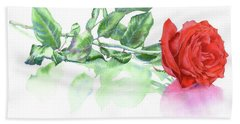 Valentine Rose Hand Towel