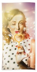 Valentines Day Pin Up Hand Towel