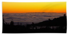 Valley Fog Twilight Bath Towel