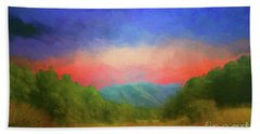 Valley In The Cove Hand Towel by Geraldine DeBoer