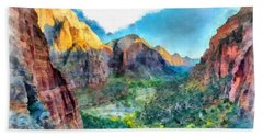 Valley Of Colours. Hand Towel