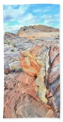 Valley Of Fire Alien Boulder Bath Towel by Ray Mathis