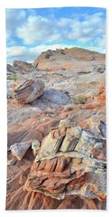 Valley Of Fire Boulders Hand Towel by Ray Mathis