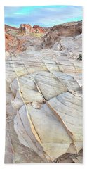 Valley Of Fire Sandstone Hand Towel by Ray Mathis