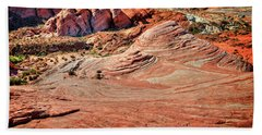 Valley Of Fire State Park Nevada Hand Towel by James Hammond