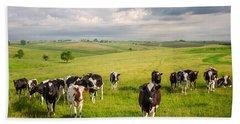 Valley Of The Cows Bath Towel