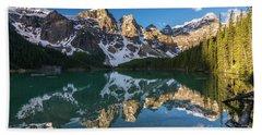 Valley Of The Ten Peaks Lake Moraine Hand Towel