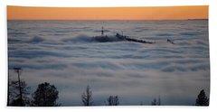 Valley Sunset Fog Bath Towel