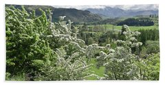 Valleys And Meadows Of New Zealand. Springtime. Queenstown Area. Bath Towel