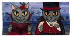 Vampire Cat Couple Hand Towel
