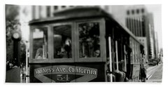 Van Ness And Market Cable Car- By Linda Woods Bath Towel