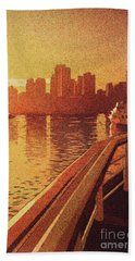 Bath Towel featuring the painting Vancouver Morning- Bc by Ryan Fox