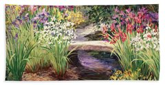 Vandusen Garden Iris Bridge Bath Towel