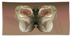 Vanilla Butterfly Rose Bath Towel