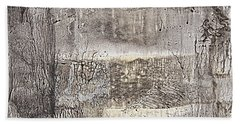 Bath Towel featuring the painting Vanished Landscapes by Nancy Kane Chapman