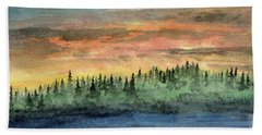 Vapor Entering Northern Forest Hand Towel by R Kyllo