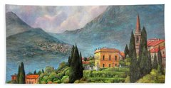 Varenna Italy Hand Towel by Donna Tucker