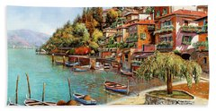 Varenna On Lake Como Hand Towel