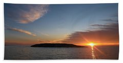 Hand Towel featuring the photograph Variations Of Sunsets At Gulf Of Bothnia 3 by Jouko Lehto